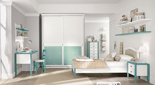 Isabella / ξύλινο μονό κρεβάτι