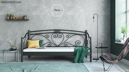 μεταλλικό κρεβάτι με πλάτη-καναπές σε πολλά χρώματα επιλογής σας κατάλληλος για ξενοδοχεία, οικίες κτλ