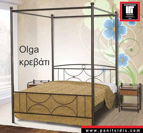 μονό μεταλλικό κρεβάτι με ουρανό για στρώμα 90Χ190/200