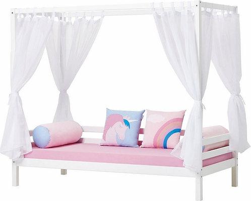 κρεβάτια παιδικά με ουρανό,krevatia paidika me ourano xilina hoppekids