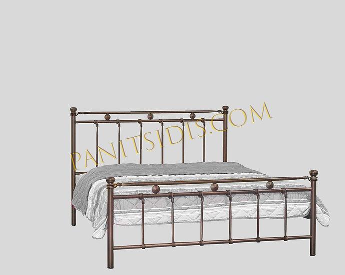 διπλό μεταλλικό κρεβάτι για στρώμα 160Χ200 για airbnb σπίτια, ξενοδοχεία κτλ