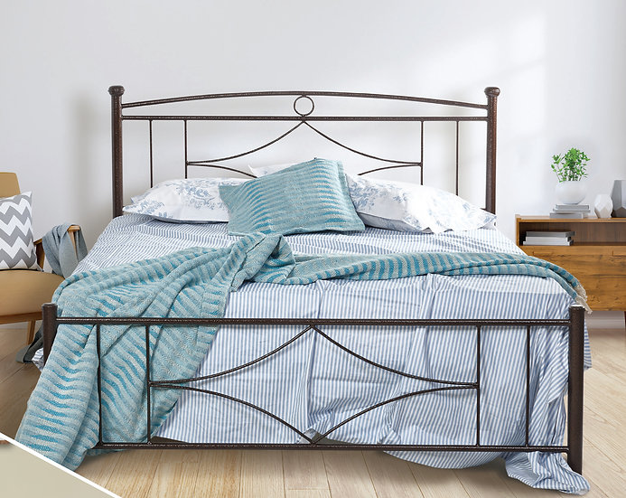 οικονομικό μεταλλικό κρεβάτι στιβαρή κατασκευή σε πολλά χρώματα