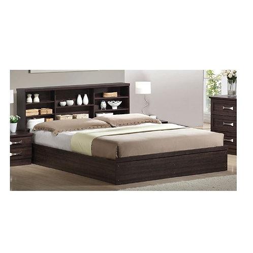 Samira 160 / Διπλό Melamine Paper Κρεβάτι-Ράφια