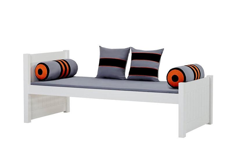 NOAH Deluxe bed / μονό ξύλινο κρεβάτι με ανατομικό τελάρο