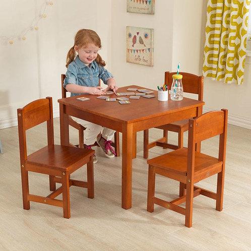 Farmhouse table & 4 chair set