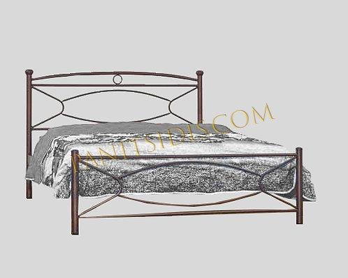 Nico 150 / διπλό μεταλλικό κρεβάτι