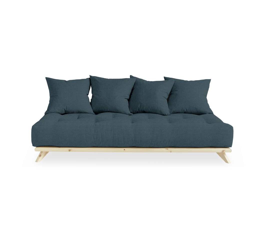τριθέσιος καναπές κρεβάτι με 4 μαξιλάρες φουτόν