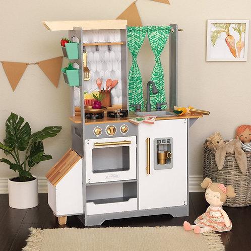 Παιδική ξύλινη κουζίνα με αξεσουάρ φώτα και ήχους
