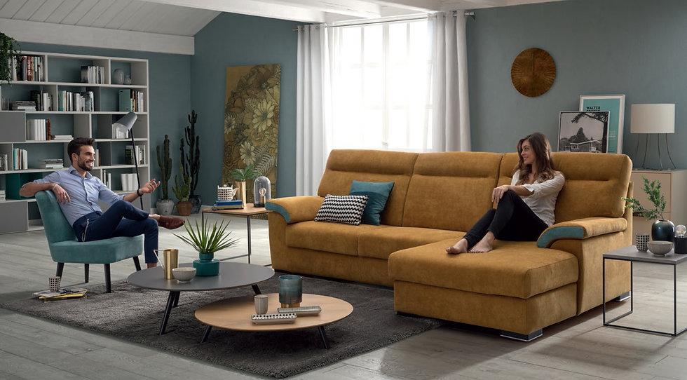 Καναπές γωνία Ιταλικός με αποθηκευτικό χώρο και Sliding Seat