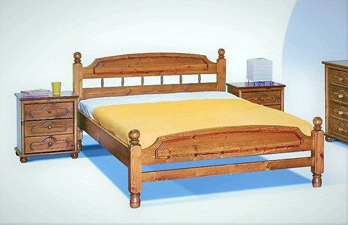 διπλό ξύλινο κρεβάτι σε κλασσικό σχέδιο από πεύκο για στρώμα 160 Χ 200 εκ.