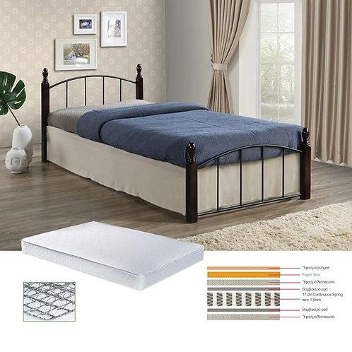 Eco Set Κρεβάτι Μονό με Στρώμα