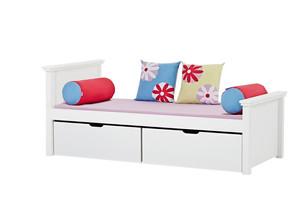 MAJA κρεβάτι μασίφ ξύλο με 2 βαθιά συρτάρια