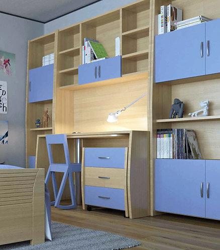 σετ παιδικού νεανικού γραφείου με βιβλιοθήκες, από ξύλο σε πολλά χρώματα