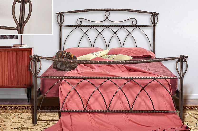 Διπλό  μασιφ μεταλλικό κρεβάτι 150/160x200 στιβαρή κατασκευή σε πολλά χρώματα