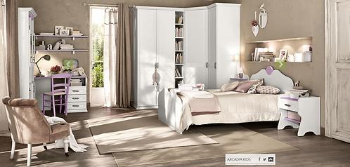 Ivory / Ξύλινο ημίδιπλο κρεβάτι