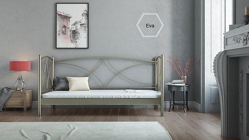 metal beds,μεταλλικά κρεβάτια με πλάτη-καναπές σε πολλά χρώματα για στρώμα 90Χ190 και 80Χ190 εκ.
