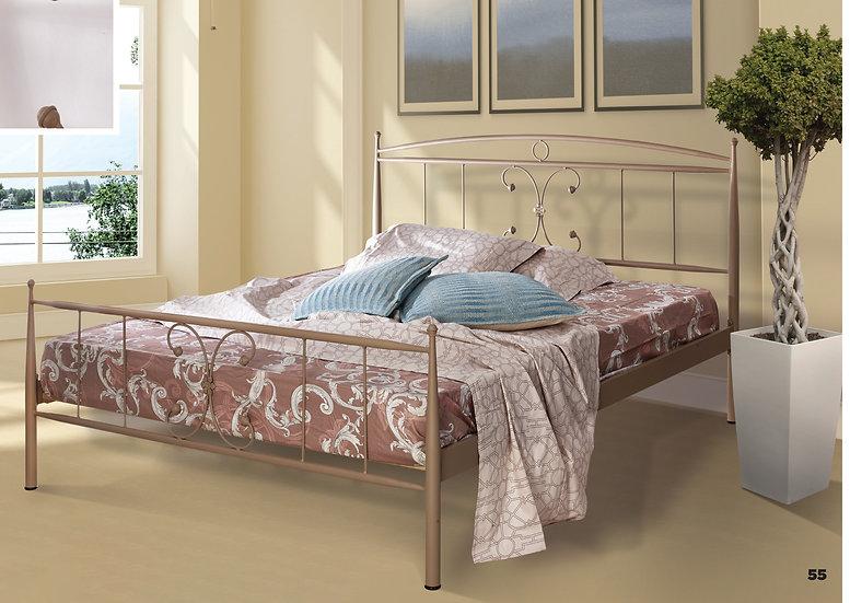 Διπλό μεταλλικό κρεβάτι  στιβαρή κατασκευή σε πολλά χρώματα