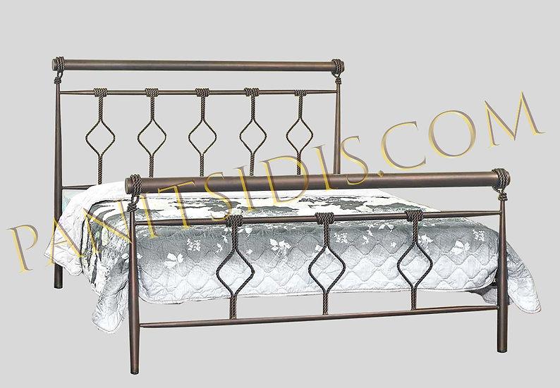 Madison 160 / διπλό μεταλλικό κρεβάτι