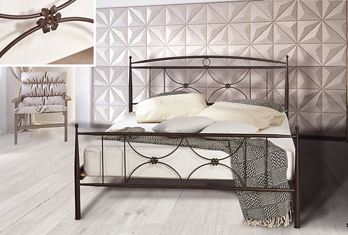 Μεταλλικό κρεβάτι στιβαρή κατασκευή σε πολλά χρώματα