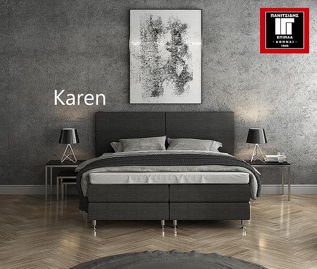 διπλό ντυμένο κρεβάτι υπόστρωμα