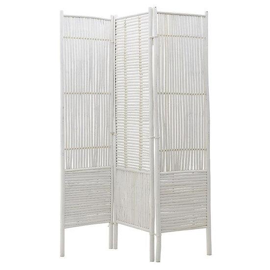 παραβάν από bamboo σε λευκή βαφή