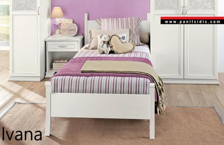 Ξύλινο παιδικό εφηβικό κρεβάτι