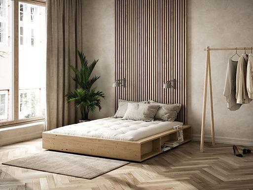 Ziggy frame / Κρεβάτι μασίφ Ιαπωνικού design