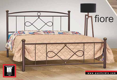 διπλό μεταλλικό κρεβάτι για στρώμα 140Χ200 σε πολλά χρώματα
