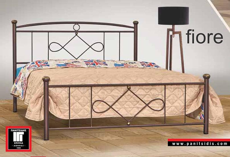 διπλό μεταλλικό κρεβάτι για στρώμα 160Χ200 σε πολλά χρώματα