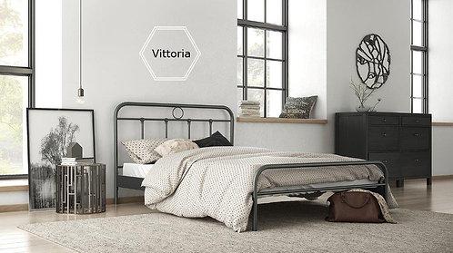 διπλά κρεβάτια σιδερένια σε κλασσικό σχέδιο για στρώμα 160Χ200 σε ποικιλία χρωμάτων