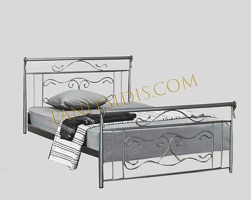 διπλό σιδερένιο κρεβάτι για στρώμα 160Χ200 σε πολλά χρώματα παραγωγής.Double metal beds for airbnb, hotels etc