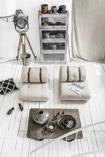 μονή πολυθρόνα κρεβάτι με στρώματα φουτόν από βαμβάκι