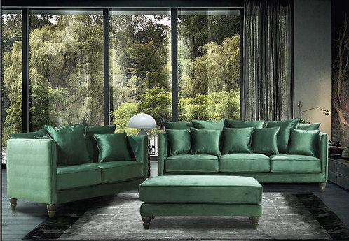 Set τριθέσιος καναπές & διθέσιος & σκαμπώ