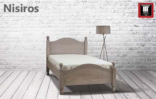διπλό κρεβάτι από ξύλο για στρώμα 140Χ200  σε πολλά χρώματα