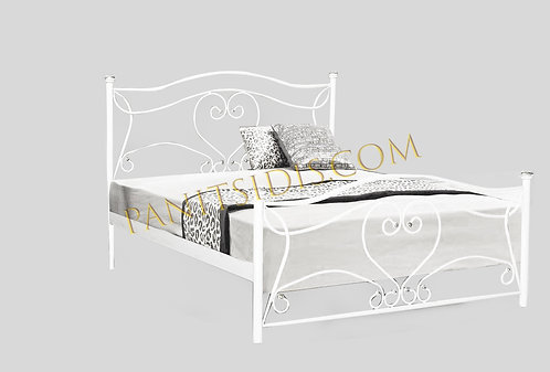 διπλό μεταλλικό-σιδερένιο κρεβάτι για στρώμα 160Χ200 σε πολλά χρώματα μετάλλου.Καλή λύση για ξενοδοχεία, airbnb κτλ.Metal bed