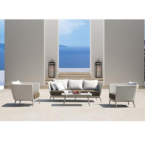 Σετ κήπου - εξωτερικού χώρου  με καναπέ, 2 πολυθρόνες και τραπεζάκι