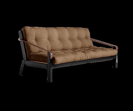 Poetry Sofa Bed Black / 3θέσιος Καναπές Κρεβάτι