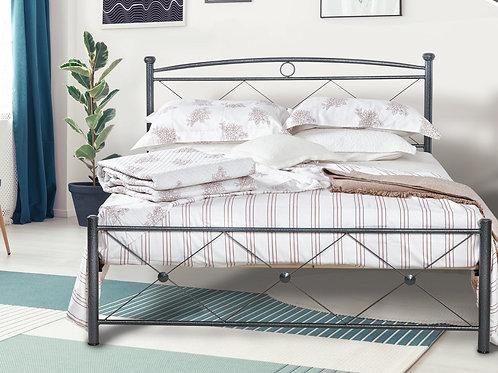 Οικονομικό πακέτο μεταλλικό κρεβάτι με στρώμα και τάβλες σε 150x200 διάσταση