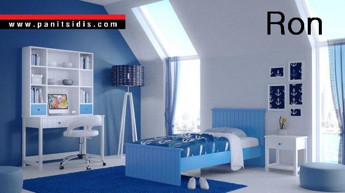 ημίδιπλο παιδικό εφηβικό κρεβάτι για στρώμα 110Χ190/200
