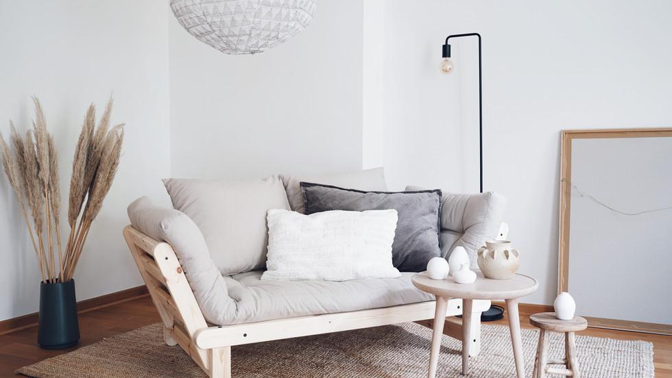 καναπές κρεβάτι με στρώμα μονό φουτόν 80 Χ200 εκ