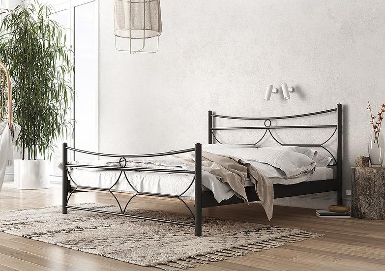 Οικονομικό μεταλλικό κρεβάτι