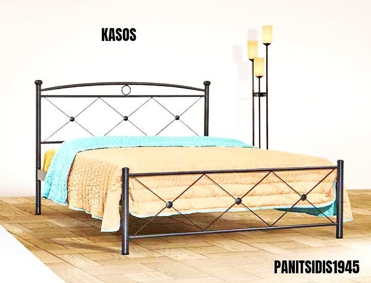 διπλό μεταλλικό κρεβάτι 140 Χ 200 για ξενοδοχεία, airbnb, οικίες