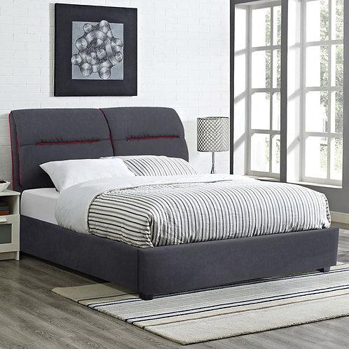 Διπλό οικονομικό κρεβάτι ντυμένο