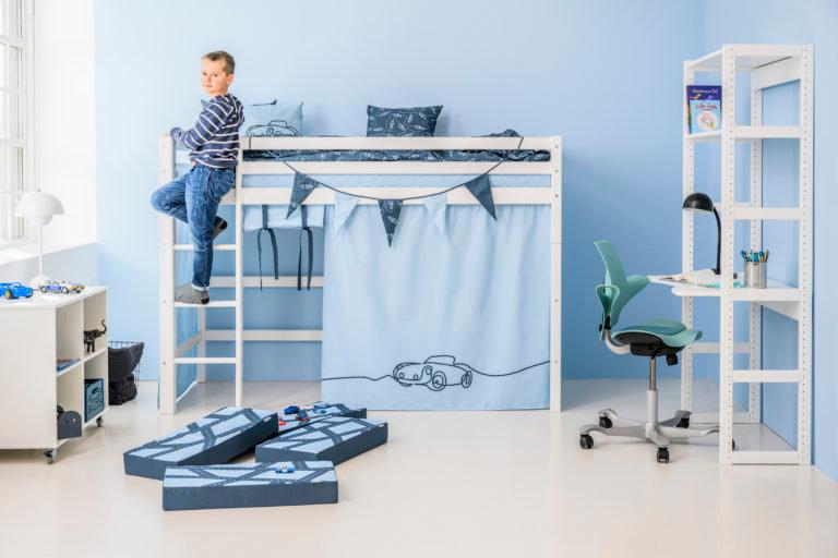 Παιδικά κουρτινάκια κουκέτας σε μπλε χρώμα