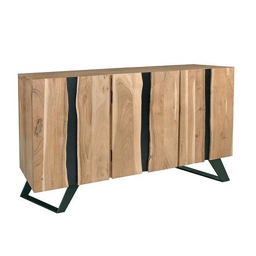 Mpoufes xsilinos,μπουφές ξύλινος από μασίφ ξύλο