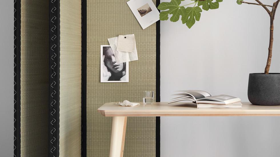 Japanese room divider tatami design