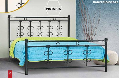 ημίδιπλο μεταλλικό κρεβάτι για στρώμα 110Χ190/ 200 σε πολλά χρώματα επιλογής σας