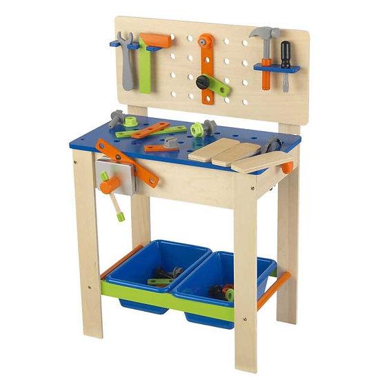 παιδικός πάγκος εργασίας με εργαλεία