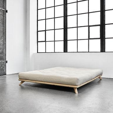 Senza / Διπλό ξύλινο κρεβάτι