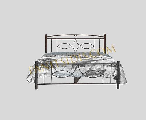 διπλό μεταλλικό κρεβάτι για στρώμα 150Χ200, 140Χ200, 160Χ200
